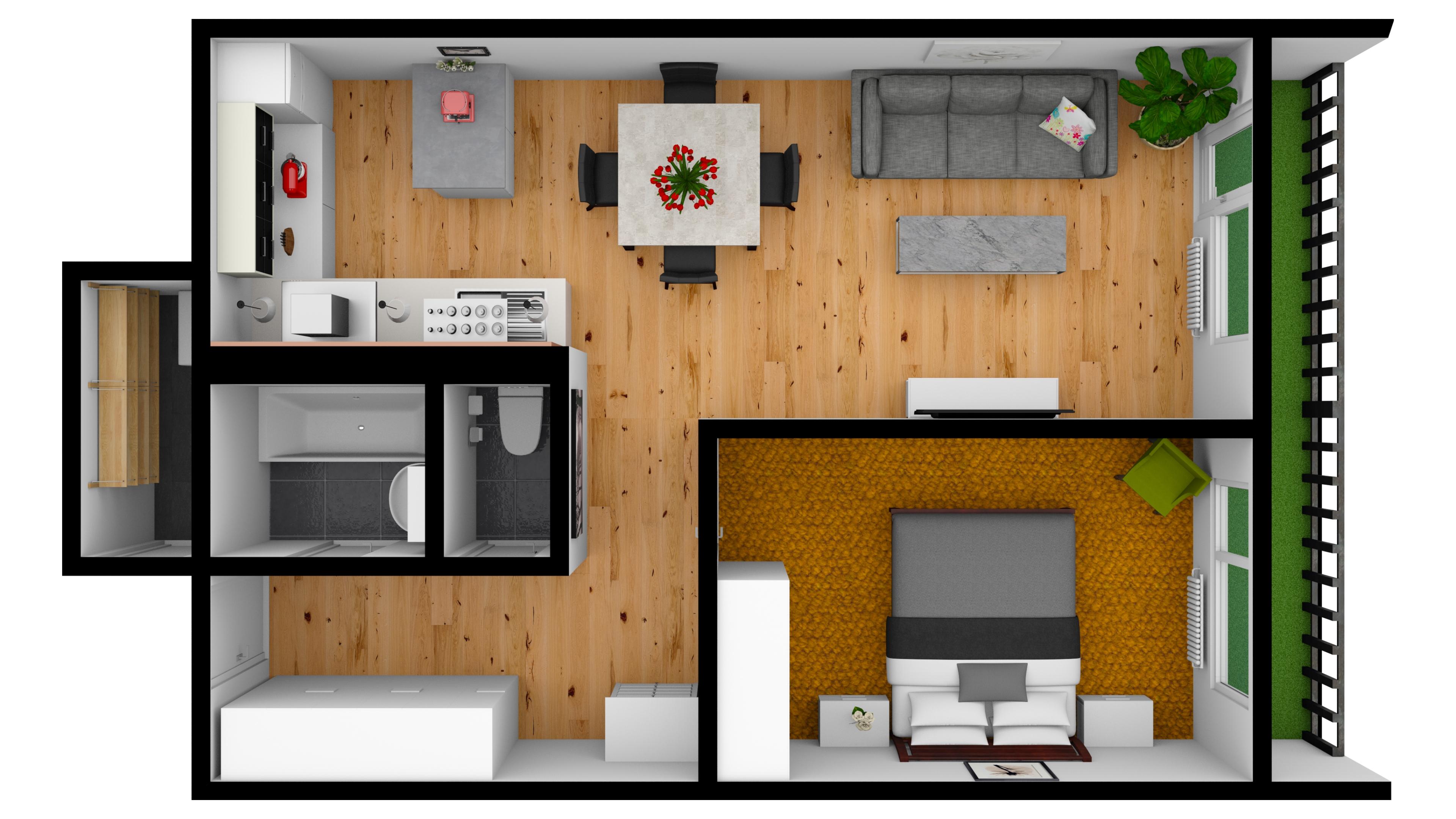 Byt 2 + kk, lodžie, 57 m², Velká Chuchle